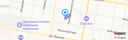 Баня №3 на карте Благовещенска
