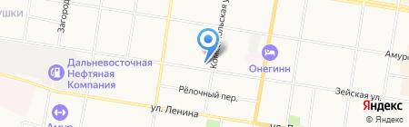 Ирбис на карте Благовещенска