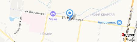 Север на карте Благовещенска