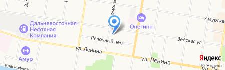 V-8 на карте Благовещенска