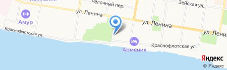 Городская клиническая больница на карте Благовещенска