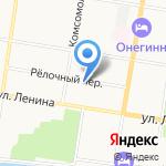 Библиотека им. А.П. Чехова на карте Благовещенска