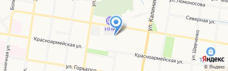 Автомойка на Октябрьской на карте Благовещенска