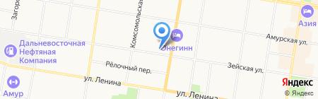 Аварийно-диспетчерская служба на карте Благовещенска