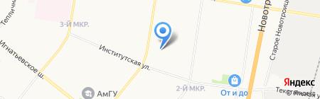 Авто-спектр на карте Благовещенска