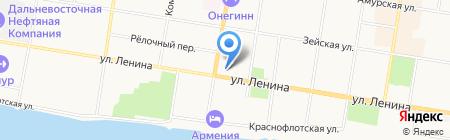 Гимназия №1 на карте Благовещенска