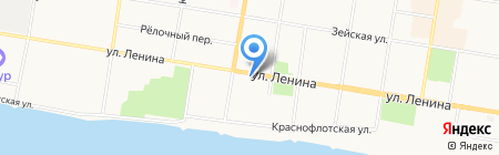 Благовещенский электроаппаратный завод на карте Благовещенска
