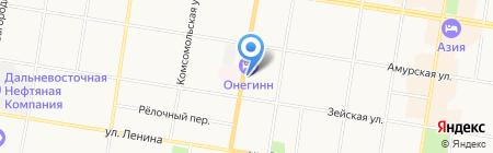 Синяя птица на карте Благовещенска