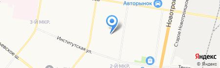 Средняя общеобразовательная школа №28 на карте Благовещенска