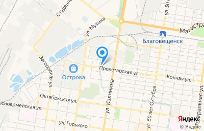 Местоположение на карте пункта техосмотра по адресу г Благовещенск, ул Калинина, д 114, пом 2