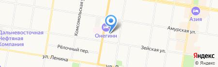 Амурский горный центр на карте Благовещенска