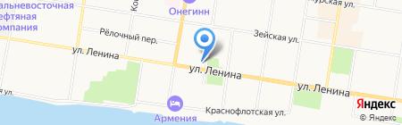 Бриллианты из Якутии на карте Благовещенска