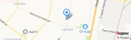 Автостоянка на карте Благовещенска