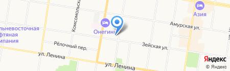 Love in ПАРИЖ на карте Благовещенска