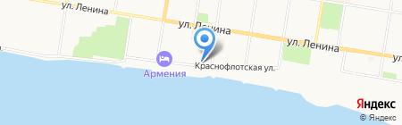 Заря на карте Благовещенска