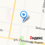 Амурский аварийный комиссар на карте Благовещенска