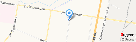 Серышевские на карте Благовещенска