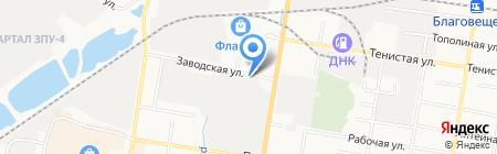 Автоcleanика на карте Благовещенска