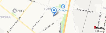 Детский сад №68 на карте Благовещенска