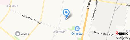 Детский сад №4 на карте Благовещенска