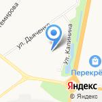 Гимназия №25 на карте Благовещенска