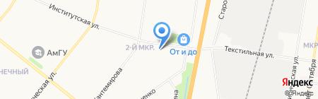 Банкомат Хоум Кредит энд Финанс Банк на карте Благовещенска