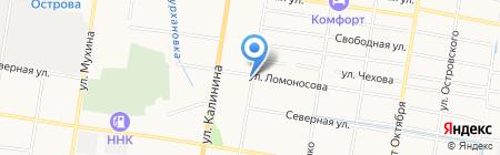 Киоск по продаже фруктов и овощей на карте Благовещенска