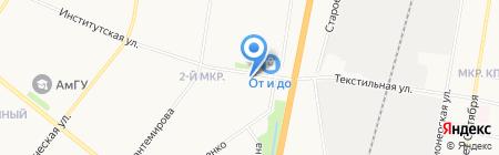Моби Дик на карте Благовещенска