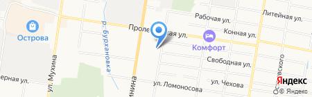 Унимас на карте Благовещенска