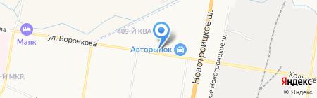 АвтоВольт на карте Благовещенска