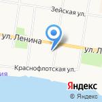 Амурский областной суд на карте Благовещенска
