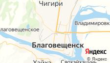 Гостиницы города Благовещенск на карте