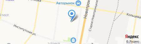 Юсер на карте Благовещенска