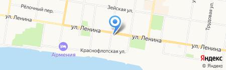 Градсвет на карте Благовещенска