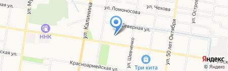 Олененок на карте Благовещенска