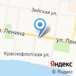 Амурская областная организация профсоюза работников агропромышленного комплекса РФ на карте Благовещенска