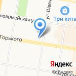 Школа №4 города Благовещенска на карте Благовещенска