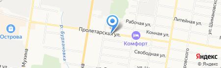 Шиномонтажная мастерская на Пролетарской на карте Благовещенска