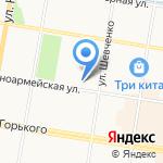 Амурский колледж строительства и жилищно-коммунального хозяйства на карте Благовещенска