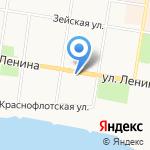 Колымская на карте Благовещенска