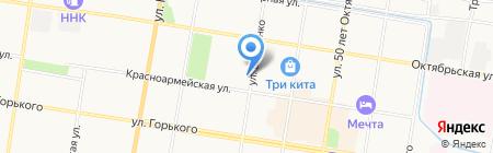 Булочно-кондитерская от Трех Толстяков на карте Благовещенска