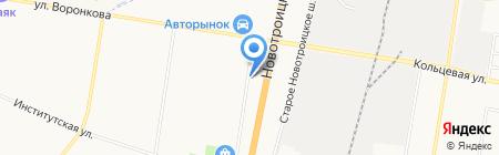 Орбита на карте Благовещенска