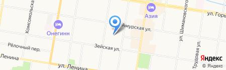 Автомойка на карте Благовещенска