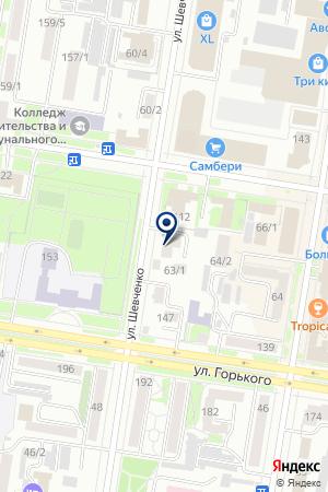 Лоция на карте Благовещенска