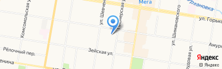 Банкомат Райффайзенбанк на карте Благовещенска
