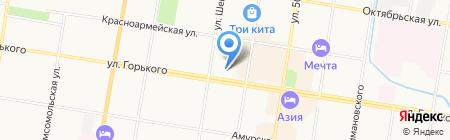 Центральная детская школа искусств на карте Благовещенска