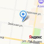 Управление ФСБ России по Амурской области на карте Благовещенска