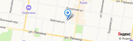 Элкон на карте Благовещенска