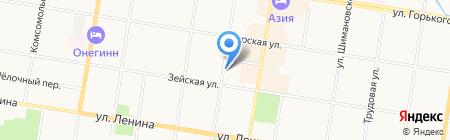 Медико-санитарная часть на карте Благовещенска
