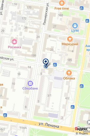 Maxima на карте Благовещенска